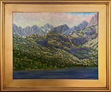 Lake Sabrina High Sierra Impressionist Oil Painting by M. Diederichsen - framed