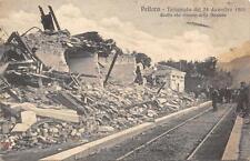 3414) TERREMOTO IN CALABRIA 1908, RESTI STAZIONE DI PELLARO REGGIO CALABRIA.