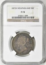 Newfoundland 1872-H Silver 50 Cents NGC F-15
