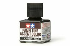 TAMIYA 87140 Lavis Enamel Brun foncé - Panel Line Accent Color Dark Brown