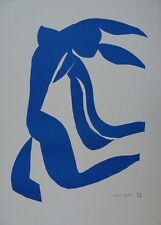 "Henri MATISSE : ""La chevelure"" LITHOGRAPHIE SIGNEE EN COULEURS # RARE # RIVES"
