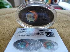 10$ Apocalypse Prophezeiung der Maya Fiji 2012 Silver Silber Glas inlay selten