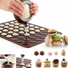 Macaron Baking Decorating Pen Pastry Cream Cake Muffin 3 Nozzle Set Kit Silicone