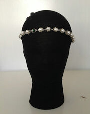 1920s DECO FLAPPER IVORY PEARL CRYSTAL HEADBAND GREAT GATSBY HAIRBAND WEDDING