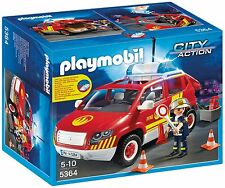 PLAYMOBIL Fire Chief's Car con Luci e Suoni 5364