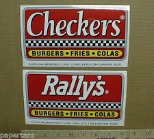 Rally's Checkers Burgers Cola hamburgers drive-in fast food New Decal Stickers