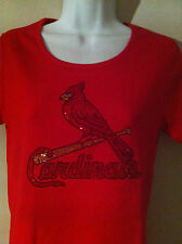 St Louis Cardinals Bling Womens shirts Made World's Finest Rhinestone Crystals