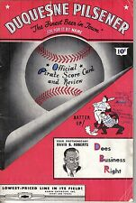 1947 (7/3) Baseball program, Cincinnati Reds @ Pittsburgh Pirates~scored ~ Poor