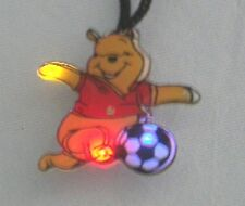 10 Winnie the Pooh Soccer Body Blinking LED Light Flashy Necklace Party Favors