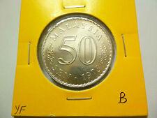 B: Malaysia 50 Sen (1973) Parliament Coin - BU