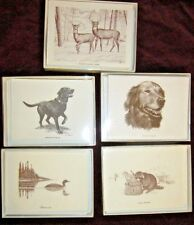 Christmas Boxed Note Cards w/Dogs & Wildlife with 10 Notes Cards & 10 Envelopes