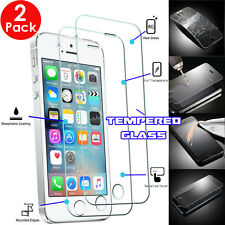 2x 100% TEMPERED GLASS Invisible Screen Protectors Shield For iPhone SE 5s 5c 5