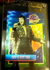 THE ELVIS PRESLEY COLLECTION Dufex FOIL Chase Card SHE'S NOT YOU #39 w/ SIG Case