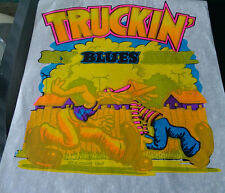 Vintage  Rare R. CRUMB TRUCKIN MY BLUES AWAY Iron-On Transfer by Roach