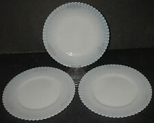 "3 Macbeth Evans Glass PETALWARE Cremax w Decal Plate Luncheon 8"" Depression"