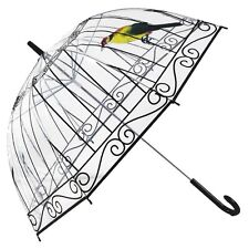 New Transparent Umbrella Creative Bird Cage Parasol Dome Clear/Rain Umbrellas