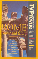 ROME POWER AND GLORY Chicago Sun-Times TV Prevue guide Mar 7 1999