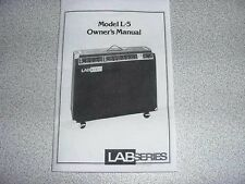 Lab Series L5, L7, L9 manual.
