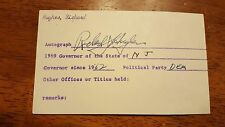 Richard Hughes-signed photo index card - coa