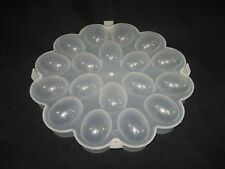 Deviled Easter Egg Container Plastic Storage Server Holds 18 Eggs