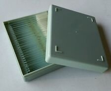 "Case of 12 New Eisco DAPHNIA & CYCLOPS W.M Prepared 1x3"" Glass Microscope Slides"