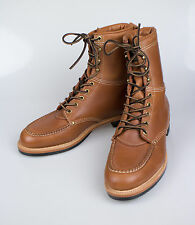 New. RALPH LAUREN DOUBLE RL RRL Clifton Russet Brown Leather Shoes Boots 10 $750