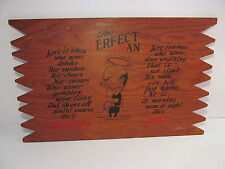 Vintage Wood The Perfect Man Sign Wall Decor He's Paralyzed/Dead Funny