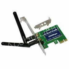 PCI-e PCI Express 300M Wireless WiFi Card Adapter w/Low Profile Bracket
