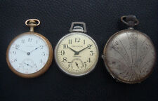 Group of two vintage/estate/antique pocket watches and a case