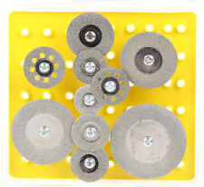 10Pcs Diamond Saw Discs Wheel Blade Rotary Grinding Cutting Tools Set For Dremel