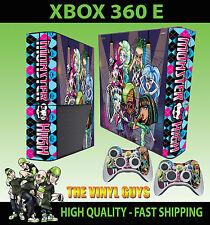 XBOX 360 E MONSTER HIGH 2 GOOFY VAMPIRE WOLF ZOMBIE STICKER SKIN & 2 PAD SKIN