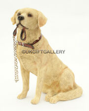 Sitting Golden Labrador Dog Ornament Figurine- Leonardo Walkies Dogs Range NEW