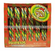 WARHEADS 12pc Candy Canes WILD BERRY 6oz Box HOLIDAY/CHRISTMAS New! Exp. 10/17