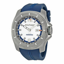 Tommy Hilfiger Men's Yellow Blue Strap Watch, 50 Meter,  Date,    1791113