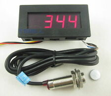 4 Digital LED Tachometer RPM Speed Meter + Proximity Switch Sensor NPN