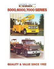 1982 GMC 5000 6000 7000 Series Truck Dealer Sales Brochure