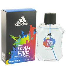 Adidas Team Five Cologne Perfume For Men Eau De Toilette Spray 3.4 oz 100 ml New