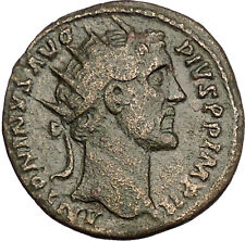 Antoninus Pius  Big Ancient Unlisted Roman Coin Providentia Forethought i53922