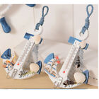 Anchor Shape Wall Hook Home Wood Door Hanger Nautical Conch Thermometer Decor