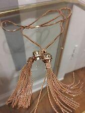 Henri Bendel Rose Gold Gramercy Park Tassel Lariat Necklace