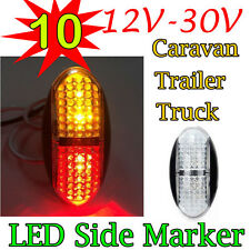 10X 12V 24V Amber Red Clearance Lights Side Marker Indicator LED Trailer Truck