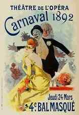 A4 photo CHERET, Jules les affiches illustrees 1896, CARNAVAL 1892 imprimé Poster