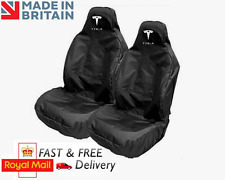 TESLA CAR SEAT COVERS PROTECTORS SPORTS BUCKET SEATS WATERPROOF - MODEL S