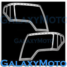 09-14 Ford F150 Truck Triple Chrome Headlight Head Light Trim Bezel Cover 2014