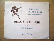 .Arts Theatre Club Programme: DRAMA AT INISH by Lennox Robinson