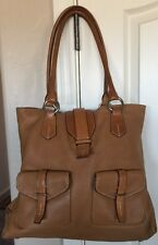 Large TUMI Women's pebbled soft Tan Brown leather shoulder bag Tote Excellent!!