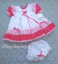 Baby Girls Romany Very Frilly Dress And Knickers, 2 Piece Set 6-12 Months Pink