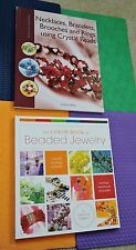 2 BEADING BOOKS lot JEWELRY DESIGNS Crystal Beads, plus color book bead