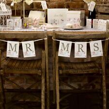 Mr & Mrs Wedding Chair Signs Pretty Hanging Chair Signs for the Bride & Groom