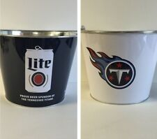 Miller Lite Tennessee Titans 5 quart Ice Bucket ~ NEW & Free Shipping ~ 2016